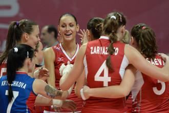 Женская сборная России по волейболу одержала первую победу в Кубке чемпионов