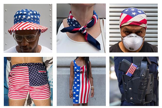 Различные способы украсить себя флагом США для праздника