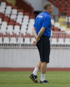 Владимир Бессонов перед игрой