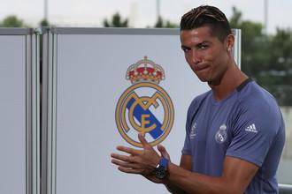 Нападающий «Реала» Криштиану Роналду на открытой тренировке в преддверии финального матча Лиги чемпионов