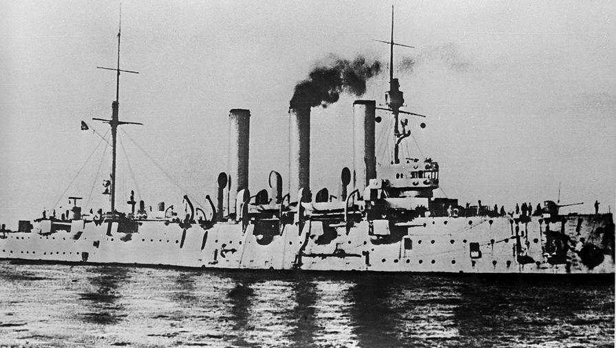 Крейсер «Аврора» в октябрьские дни 1917 года