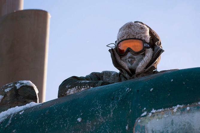 Американская подводная лодка Hartford во льдах Арктики