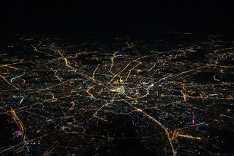 Вид на ночную Москву, сентябрь 2017
