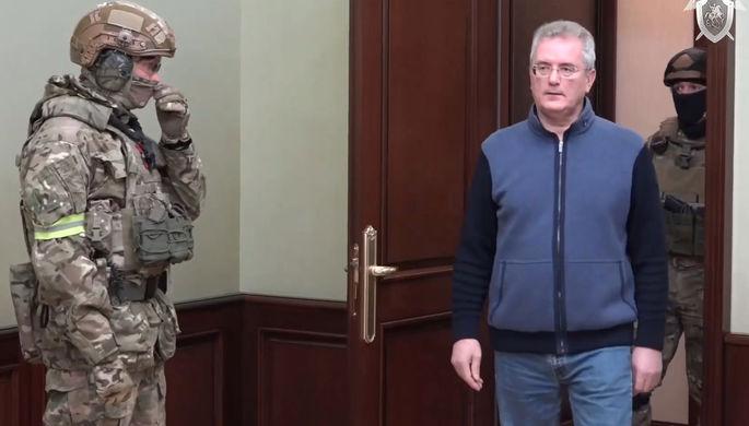 Губернатор Пензенской области Иван Белозерцев во время задержания, 21 марта 2021 года