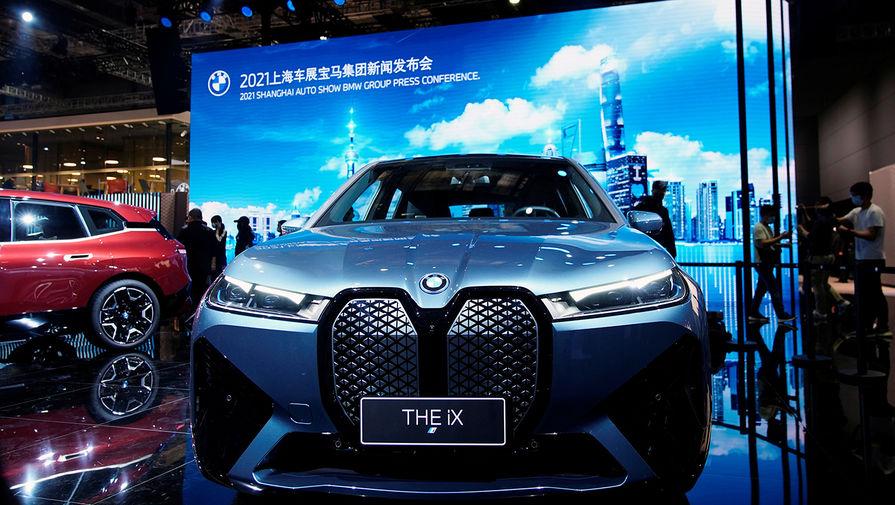 Электромобиль BMW iX на Шанхайском автосалоне, апрель 2021 года