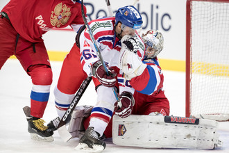 Голкипер-дебютант Илья Самсонов и его партнеры провели отличный матч против Чехии