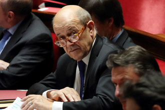 Министр иностранных дел Франции Жан-Ив Ле Дриан, февраль 2018 года