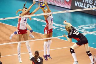Волейболистки сборной России победили Бельгию