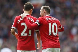 Авторы забитых мячей в составе «Манчестер Юнайтед»- Андер Эррера и Уэйн Руни