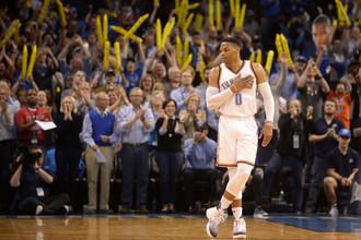 Разыгрывающий «Оклахомы» Расселл Уэстбрук по итогам завершившегося регулярного чемпионата вполне может рассчитывать на приз MVP