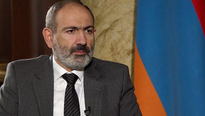 Премьер-министр Армении Никол Пашинян во время эксклюзивного интервью информационному агентству ТАСС