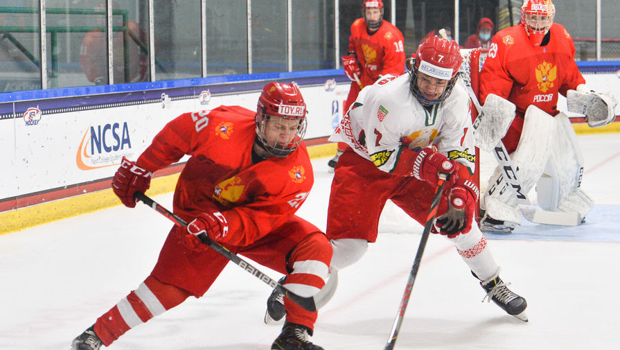 Эпизод матча Россия- Белоруссия