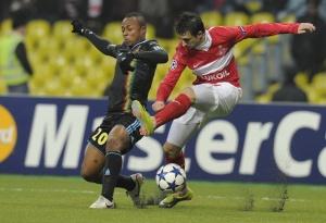 Николас Пареха в прошлогоднем матче Лиги чемпионов с «Марселем»