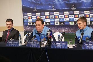 Наставник ЦСКА на «домашней» пресс-конференции в Санкт-Петербурге