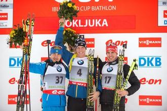 Антон Шипулин и Дарья Виролайнен — серебряные призеры спринта на этапе Кубка мира по биатлону в Поклюке