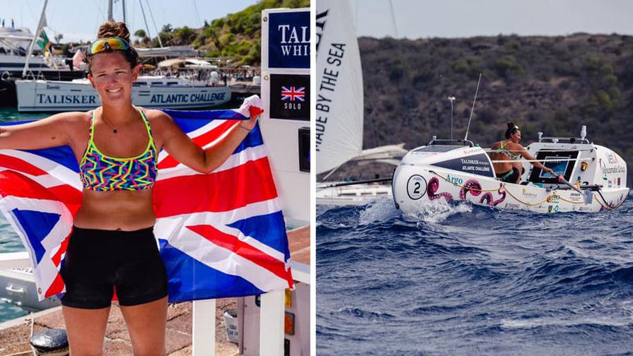 Британка в одиночку переплыла Атлантику на весельной лодке
