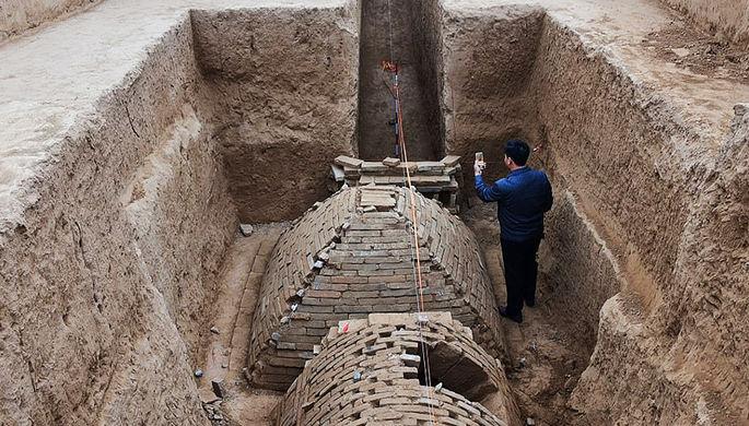 ВКитайской народной республике раскопали пирамидку