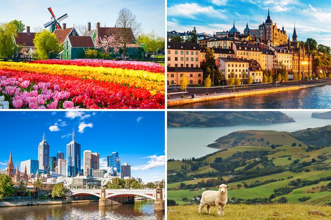 Нидерланды, Швеция, Австралия, Новая Зеландия