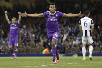 Опорный полузащитник «Реала» Касемиро, забивший второй мяч команды в финале Лиги чемпионов против «Ювентуса»