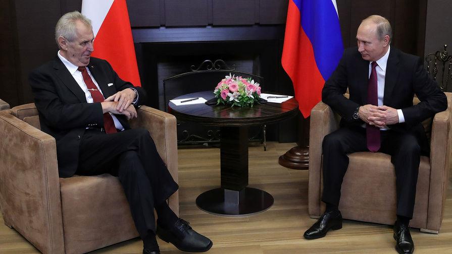 Президент Чехии назвал Путина сильной политической фигурой