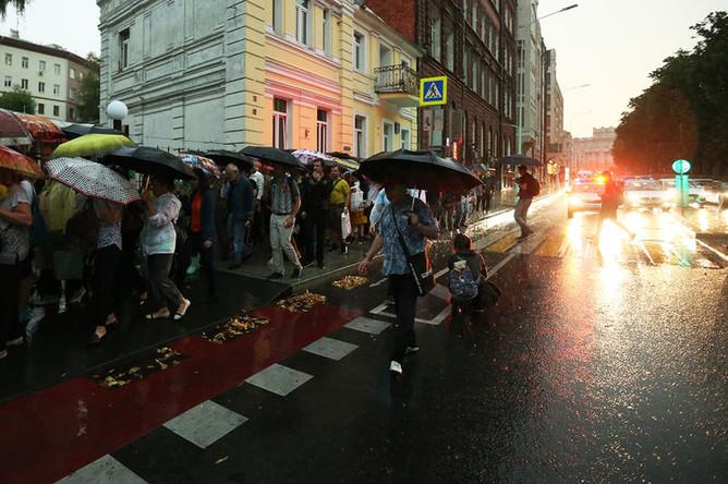 Во время «Марша матерей» в Москве. 15 августа 2018 года