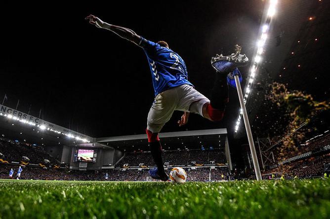 Во время матча третьего тура группового этапа Лиги Европы УЕФА между ФК «Спартак» и «Рейнджерс», 25 октября 2018 года