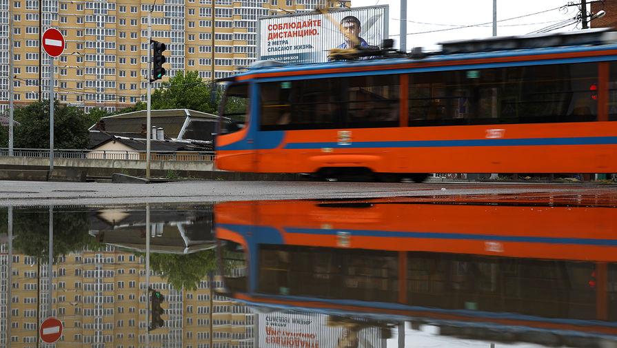 Трамвай сбил пешехода в Москве