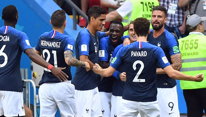 Во время 1/8 финала чемпионата мира по футболу между сборными Франции и Аргентины, 30 июня 2018 года