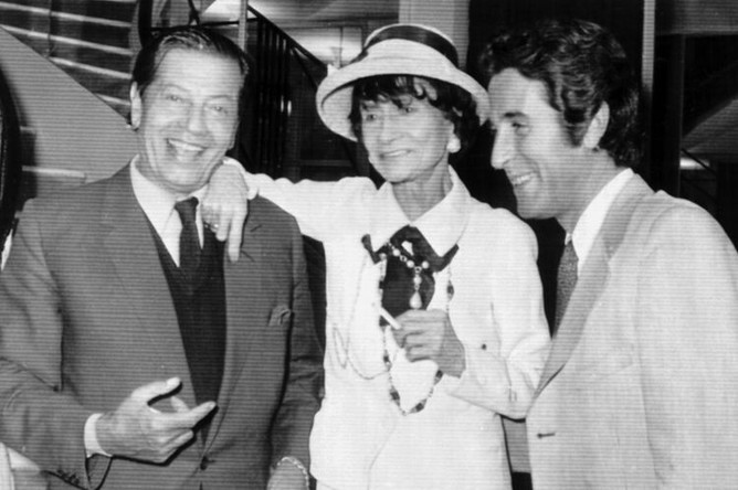 Модельер Коко Шанель, танцор Серж Лифар и Жак Шазо, 1970 год