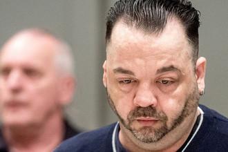 Нильс Хёгель в зале суда в Ольденбурге, 6 июня 2019 года