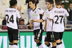 Игроки «Валенсии» уверенно ступили в 1/8 финала