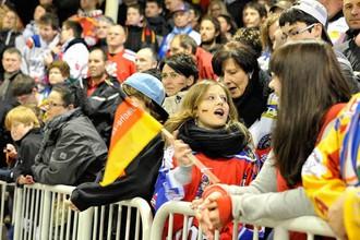 Матчи сборных России и Германии собрали множество болельщиков