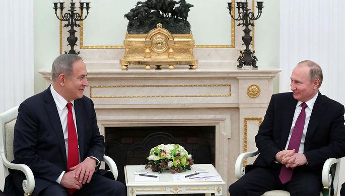 Премьер-министр Израиля Биньямин Нетаньяху и президент России Владимир Путин во время встречи в Кремле, 9 марта 2017 года