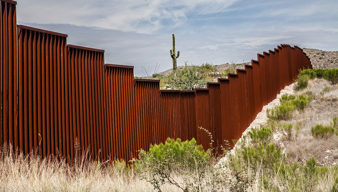 Граница между Мексикой и США, штат Аризона