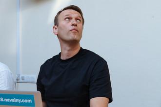 Политик Алексей Навальный перед заседанием Симоновского районного суда Москвы, 3 августа 2017 года