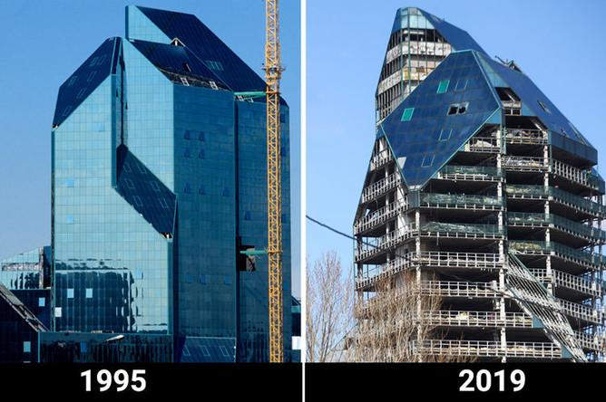 Здание делового центра «Зенит» на проспекте Вернадского в Москве, 1995 и 2019 год
