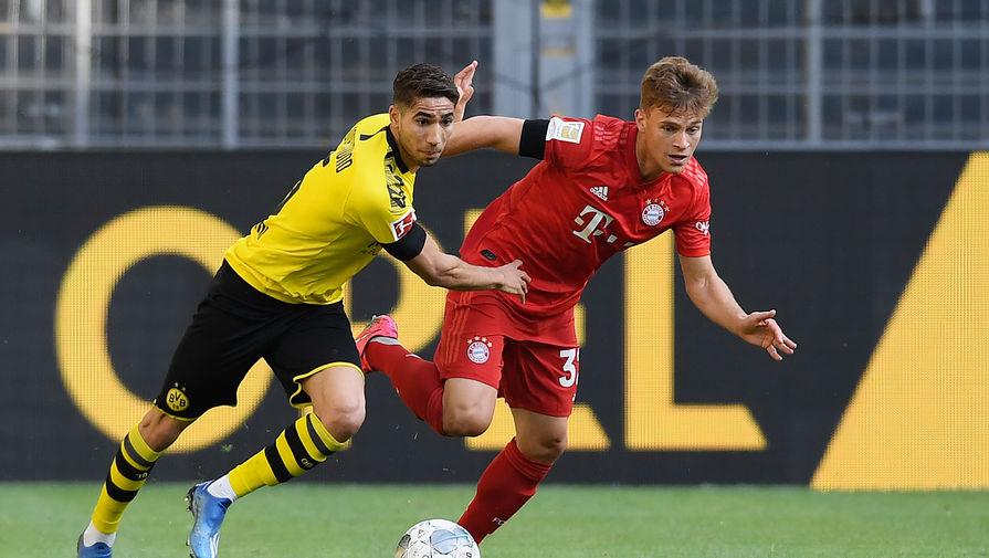 Йозуа Киммих (справа) стал главным героем матча против «Боруссии»