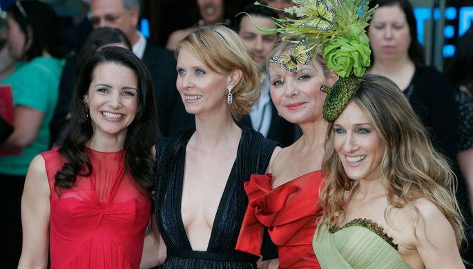 Кристин Дэвис, Синтия Никсон, Ким Кэттролл и Сара Джессика Паркер, 2008 год
