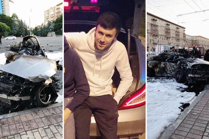 Последствия ДТП на Кутузовском проспекте и фотография из профиля пользователя rah005 в инстаграме, коллаж «Газеты.Ru»