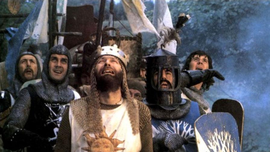 Кадр из фильма Терри Гиллиама «Монти Пайтон и священный Грааль» (1975)