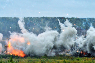Взрывы во время совместных стратегических учений (ССУ) вооружённых сил России и Белоруссии на Лужском полигоне в Ленинградской области, 18 сентября 2017 года