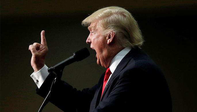 Дональд Трамп на мероприятии президентской кампании в Северной Каролине, сентябрь 2016 года