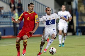 Черногорцы сыграли против армян с большим вдохновением