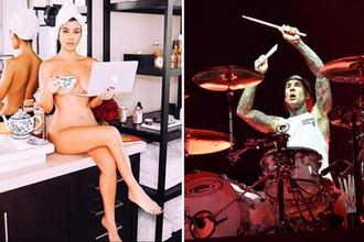 Кортни Кардашьян и барабанщик Blink 182 Трэвис Баркер, коллаж «Газеты.Ru»