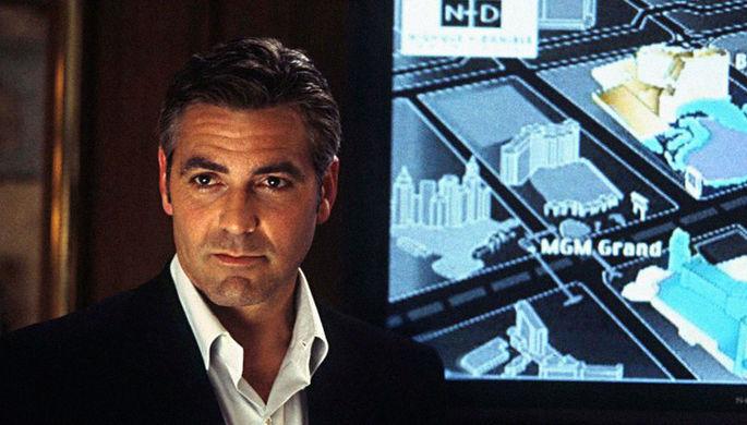 Джордж Клуни в фильме «Одиннадцать друзей Оушена» (2001)