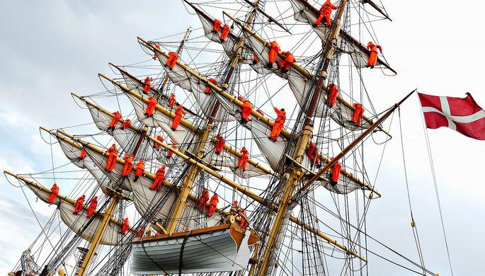 Датский трёхмачтовый корабль Георг Стаге