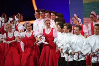Народные танцы на жеребьевке финальной части ЧМ-2018