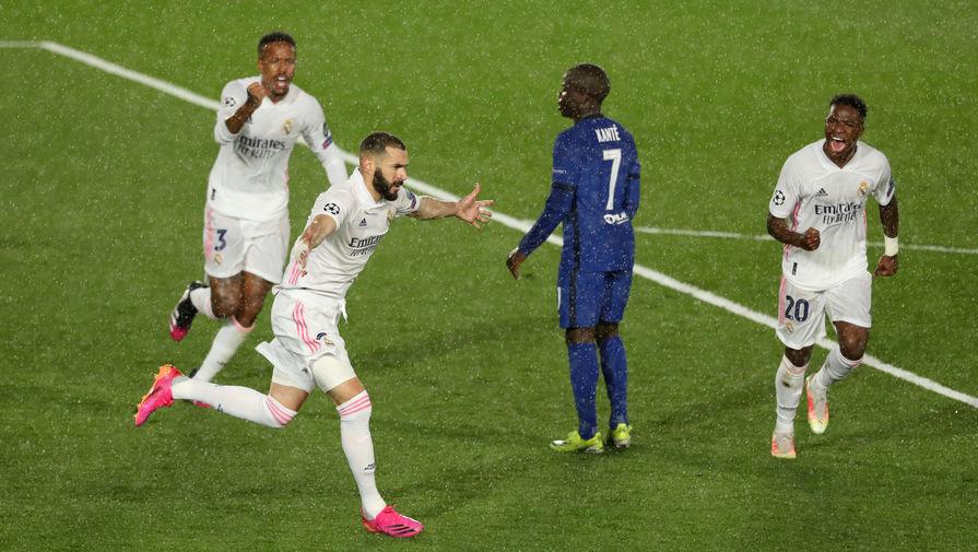 Нападающий «Реала» Карим Бензема празднует гол в матче с «Челси»