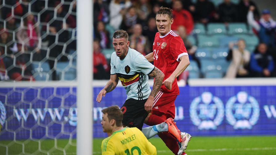 Александр Бухаров сравнял счет в дополнительное время товарищеского матча Россия — Бельгия