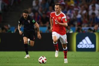 Денис Черышев (Россия) в матче 1/4 финала чемпионата мира по футболу между сборными России и Хорватии.